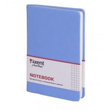 Книга записная 8208 Partner Lace, 125*195, 96л, кл, голубая,AXENT