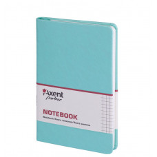 Книга записная 8208 Partner Lace, 125*195, 96л, кл, бирюзовая,AXENT