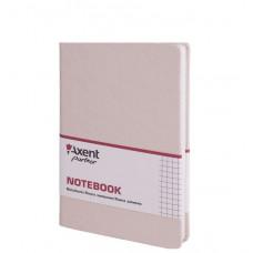 Книга записная 8208 Partner Lace, 125*195, 96л, кл, бежевая AXENT