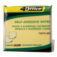 Бумага клейкая 76х76мм 100л желтая 4-423 4Office
