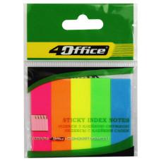 Разделители 12х50мм, 5цветов. по 20листов, PP., неон, 4-435, 4Office