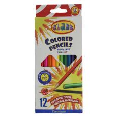 Карандаши цветные 12цветов 1612 PREMIUM CLASS