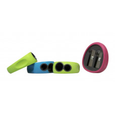 Точилка 2 отверстия Rubber Grip ассорти 4820 CLASS
