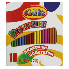 Пластилин 10цв 200гр 7623 CLASS