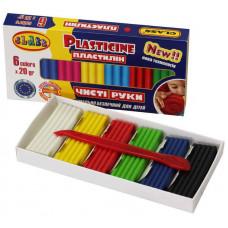 """Пластилин """"Чистые руки MAXI"""" 6 цветов.*20гр, ECO, 7643С, CLASS"""