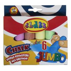 Мел цветной круглый JUMBO 6цв 23*107мм 7605 CLASS
