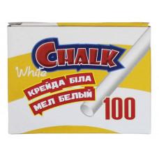 Мел белый круглый 100шт 10*82мм 7610 CLASS