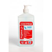 Средство для дезинфекции рук  1л с дозатором Clean Stream