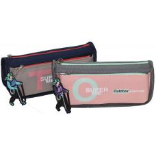 Пенал-кошелек с карманом, 21,5*8*6,5cм, PL, цвет ассорти, 21714S, SAF
