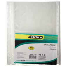 Пакет-файл, A4, PP, 30 микрон, прозрачный упаковка100шт., 4-200, 4OFFICE