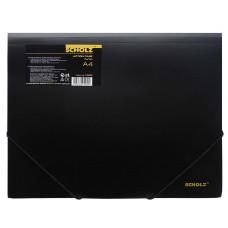Папка на резинке А4 РР 550мкм черная 10506, Scholz